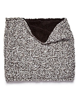 Capsule Grey Fleece Lined Snood