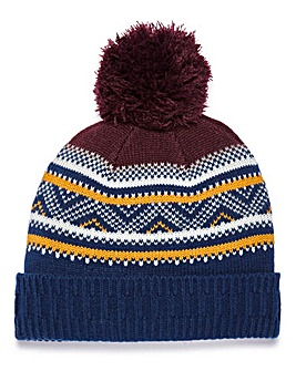 Capsule Fairisle Bobble Hat