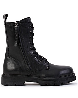 Replay Standing Leather Lace Up Ankle Boots Standard Fit