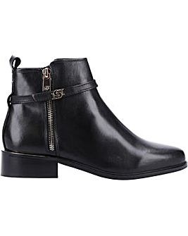 Dune Pap Buckle Trim Ankle Boot