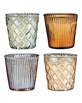Set of 4 Jasmine Capri Candles