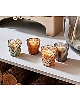 Set of 4 Jasmine Capri Candles