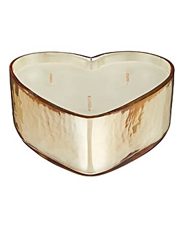 Juniper Sage Gold Love Heart Candle