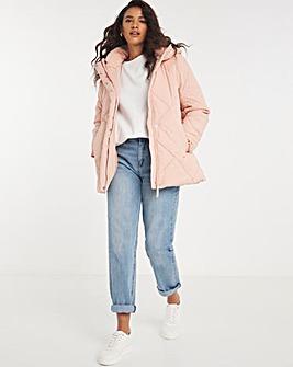 Rose Puffer Duvet Coat