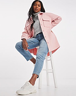Pale Pink Relaxed Shacket