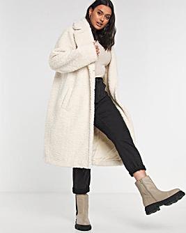 Cream Faux Fur Teddy Coat