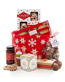Jolly Snowflake Christmas Treats Hamper
