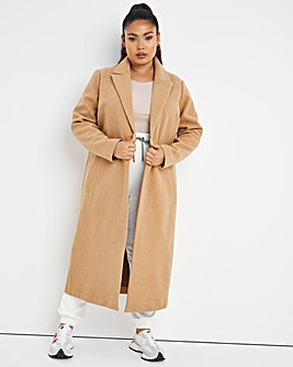 Camel Relaxed Single Breasted Coat
