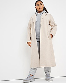 Oatmeal Relaxed Single Breasted Coat