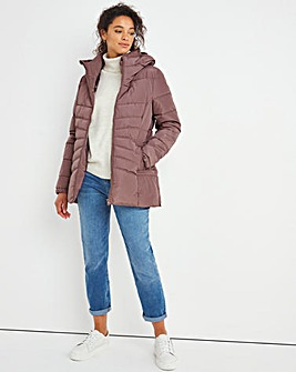 Pink Water Resistant Padded Coat