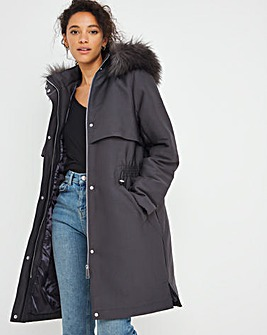 Charcoal Luxe Parka