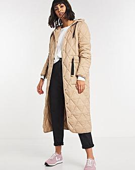 Adjustable Quilted Coat