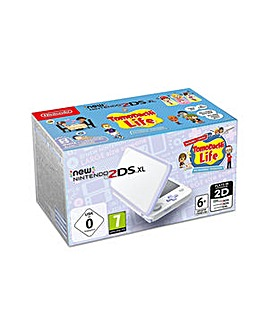 2DS XL White and Lavender plus Game