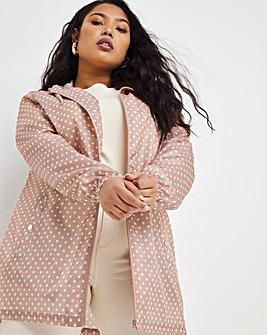 Pink Spot Print Pac-a-Mac