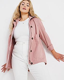 Dusky Pink Utility Jacket