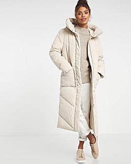 Longline Padded Duvet Coat