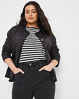 Black Short Quilted Liner Jacket