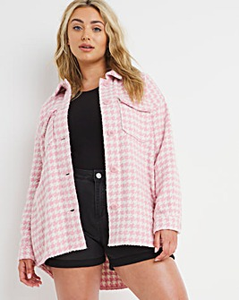Pink Dogtooth Shacket