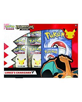Pokemon TCG: Celebrations V Box - Lance's Charizard V & Dark Sylveon V