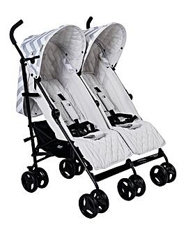 My Babiie Signature Range Billie Faiers Grey Chevron Double Stroller