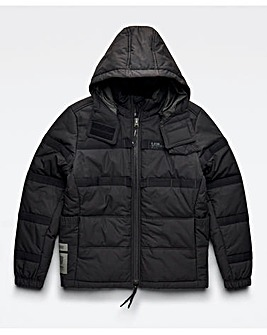 G Star RAW Black Attac Tape Quilted Padded Jacket