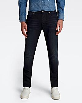 G-Star RAW Dark Aged 3301 Slim Fit Superstretch Jean