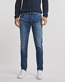 G-Star RAW Medium Indigo Aged D-Staq 5 Pocket Slim Fit Jean