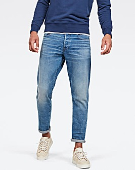 G Star RAW Worn In Azure 3301 Straight Tapered Fit Jean