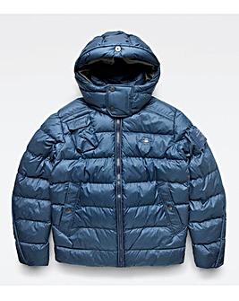 G Star RAW Blue Whistler Padded Hooded Jacket