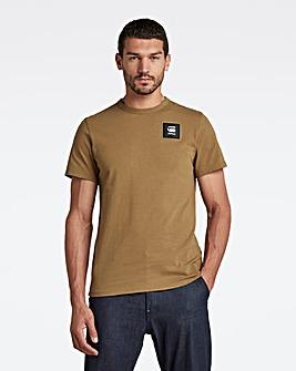 G Star Raw Light Antic Green Badge Logo T Shirt