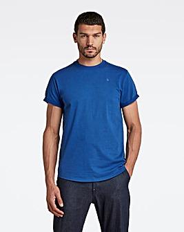 G Star RAW Lighting Blue Lash Round Neck T Shirt
