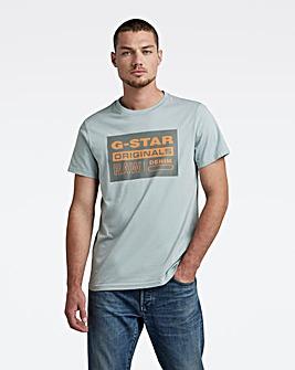 G-Star RAW Blue Originals Logo T Shirt