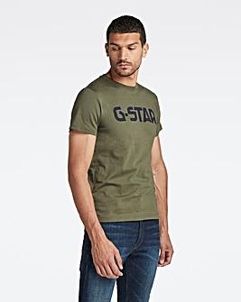 G Star Raw Bronze Green Logo T Shirt