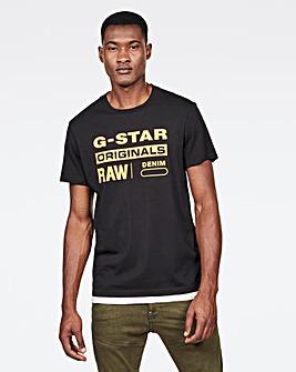 G-Star RAW Black Originals Logo T Shirt