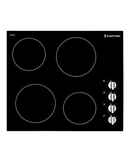 Russell Hobbs Black Glass Electric Hob