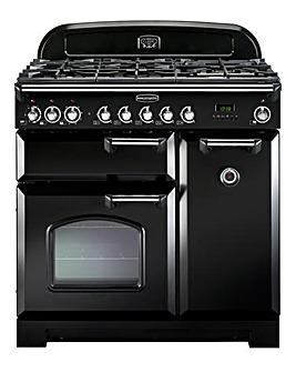 Rangemaster Black Classic Deluxe Cooker