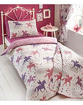 Divine Unicorns Single Reversible Duvet Set