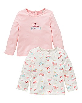 KD Baby Girl Pck Two Unicorn Print Tops