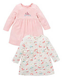KD Baby Girl Pck2 Unicorn Print Dresses