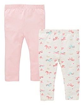 KD Baby Girl Pck of Two Unicorn Leggings