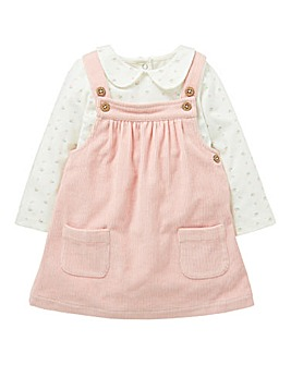 KD Baby Girl Cord Dress and Top Set