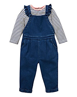 KD Baby Girl Dungaree & T-Shirt Set