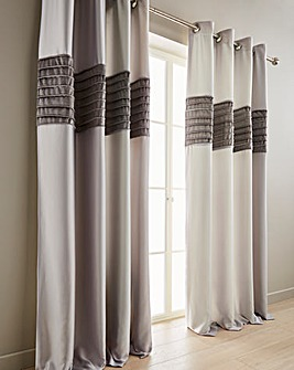 Nevada Velvet Band Eyelet Curtains