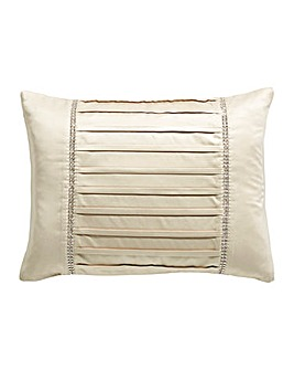Diamante Pleats Boudoir Cushion