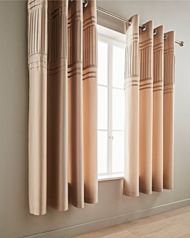 Catherine Lansfield Diamante Pleats Eyelet Curtains