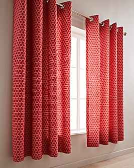 Catherine Lansfield Boston Spice Eyelet Lined Curtains