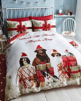 Christmas Party Animals Duvet Cover Set
