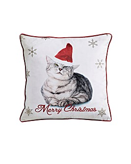 Christmas Cat Cushion Cover