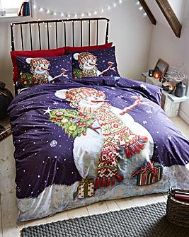 Happy Snowman Duvet Cover Set