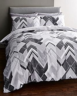 Drake Charcoal Duvet Covet Set